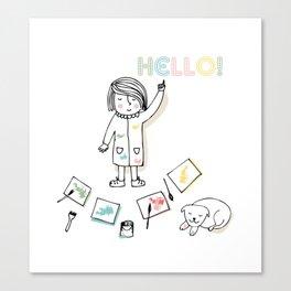 Little Artist Canvas Print