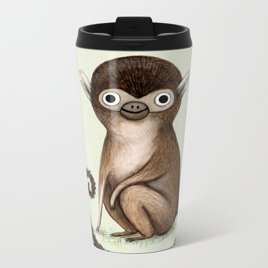 Squirrel Monkey Metal Travel Mug