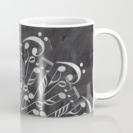 Musical mandala on chalkboard Coffee Mug
