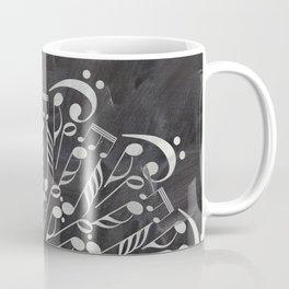 Musical mandala on chalkboard Coffee Mug