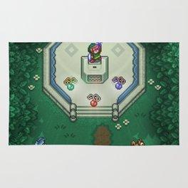 Zelda Mastesword Pixels Rug