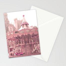 Paris Nursery, Blush, Carousel Stationery Cards