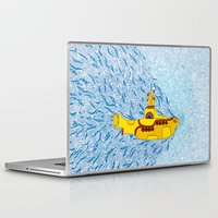 yellow submarine Laptop & iPad Skins featuring My Yellow Submarine by Cris Couto