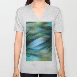 Soft Feathered Lights Abstract Unisex V-Neck