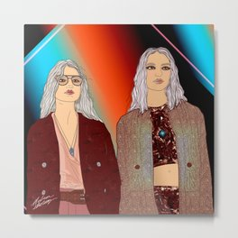 Social Jetlag - Mean Girls Stare, Nice Girls Smile, Digital Art Metal Print