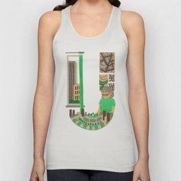 U as Urbaniste (Town planner) Unisex Tank Top