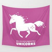unicorn Wall Tapestries featuring Unicorn by ellis