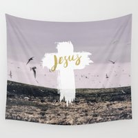 pocketfuel Wall Tapestries featuring JESUS | EASTER | CROSS by Pocket Fuel