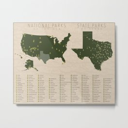 US National Parks - Texas Metal Print