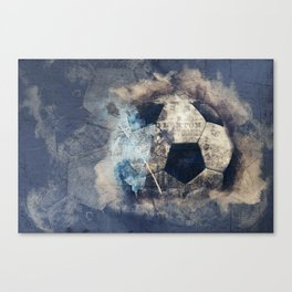 Abstract Grunge Soccer Canvas Print