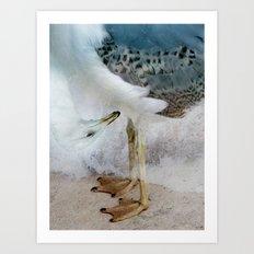 Fantasy Seagull Art Print
