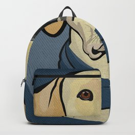 Icons of the Dog Park: Yellow Labrador Design in Bold Colors for Pet Lovers Backpack
