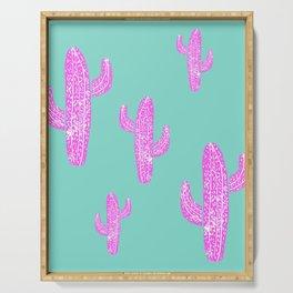 Linocut Cacti Blink Serving Tray