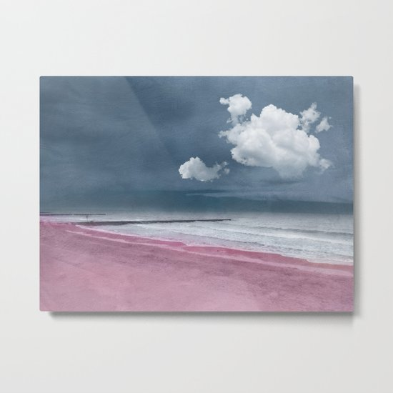 LONELY BEACH Metal Print