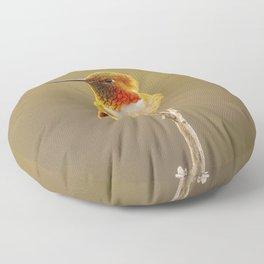 Heavenly Hummingbird by Reay of Light  Floor Pillow