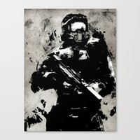 master chief Canvas Prints featuring video Game poster by Fan Prints