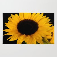 sunflowers Area & Throw Rugs featuring Sunflowers by Lena Photo Art