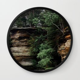 Bluffs Along the Wisconsin River Wall Clock