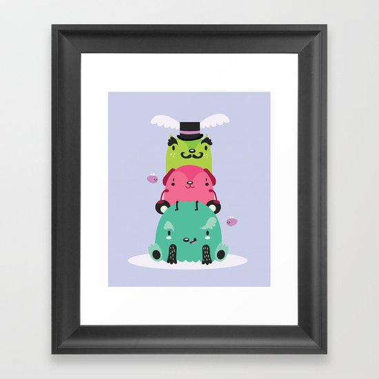 Monster totem Framed Art Print