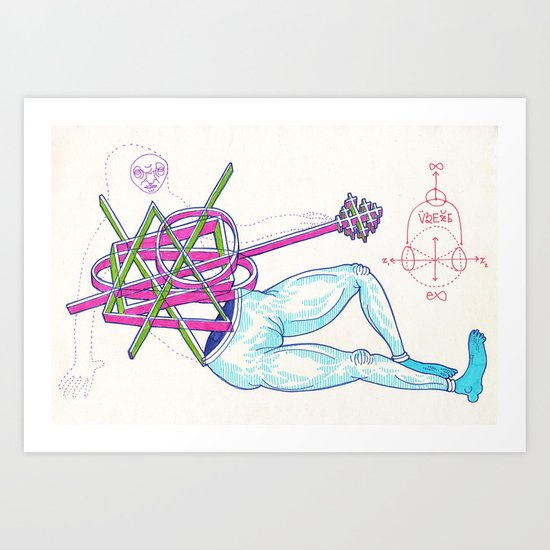 An alluring pose is struck; however, no deal is finalized with the patrons Art Print
