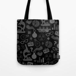 Grey and Black Science Pattern Tote Bag