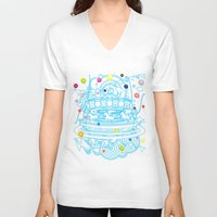 carousel V-neck T-shirts featuring Carousel by AURA-HYSTERICA