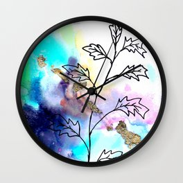 Watercolor magic plant Wall Clock