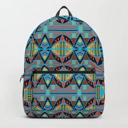 African Tribal Motif Pattern Backpack
