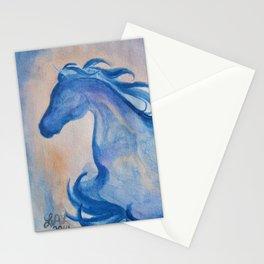 Azure Arabian Horse Profile Stationery Cards