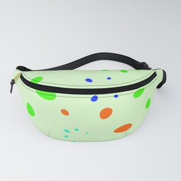 Abstract pastel vector with the imitation of bright petals on a lime background. Fanny Pack