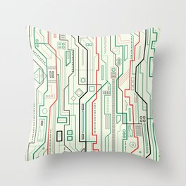Technicality Throw Pillow