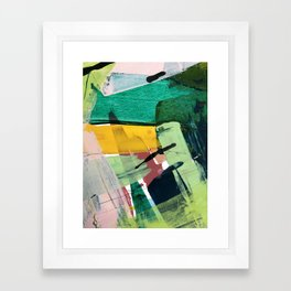 Hopeful[3] - a bright mixed media abstract piece Framed Art Print