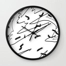 Scratch and Scrawl Wall Clock