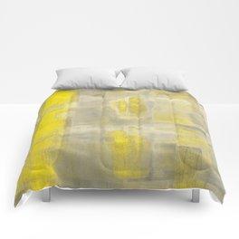 Stasis Gray & Gold 2 Comforters