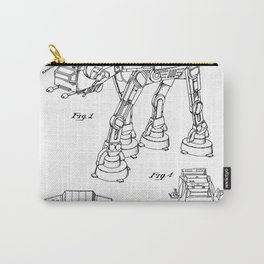 At At Walker Patent - At-At Walker Art - Black And White Carry-All Pouch