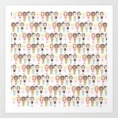 Spice Girls Pattern Art Print