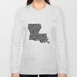 Typographic Louisiana Long Sleeve T-shirt