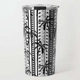 Black and white Mixed prints abstract, geometric, chain, tropical print pattern design original Travel Mug
