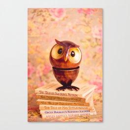 Bookish owl Canvas Print