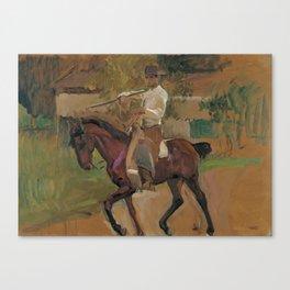 Garrochista by Joaquin Sorolla, 1914 Canvas Print