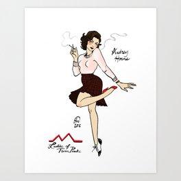 Audrey Horne Pin-up #2 Art Print