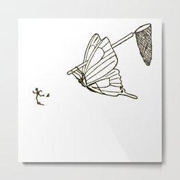 Butterfly Metamorphosis Metal Print