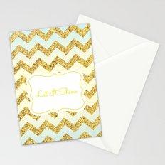 Gold chevron Stationery Cards