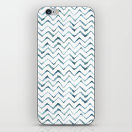 Watercolour Zig Zags iPhone Skin