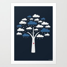Cloud Tree Art Print