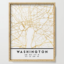 WASHINGTON D.C. DISTRICT OF COLUMBIA CITY STREET MAP ART Serving Tray