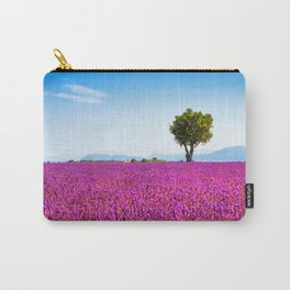 Tree and Lavender Flowers Carry-All Pouch