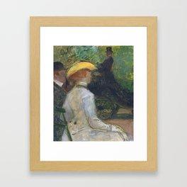 """Henri de Toulouse-Lautrec """"Au Bois de Boulougne"""" Framed Art Print"""