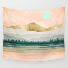 Spring Forest Lake Wall Tapestry