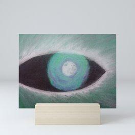 Werewolf Eye Ses Green Mini Art Print